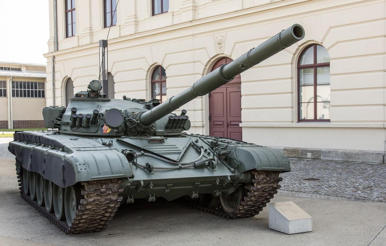Фото обои танк, боевой, основной, Т-72М