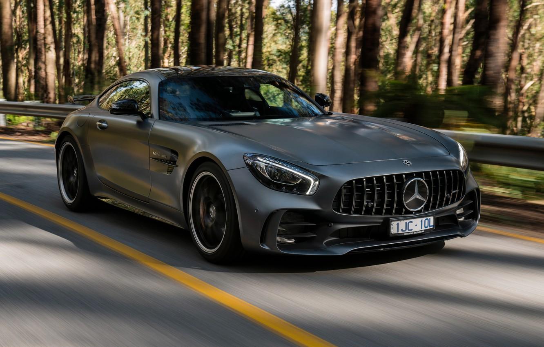 Фото обои Mercedes-Benz, скорость, суперкар, AMG, 2018, GT R