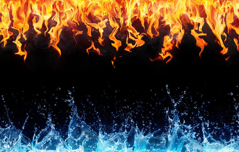 вырезать объект картинки для рабочего стола огонь и вода используется при