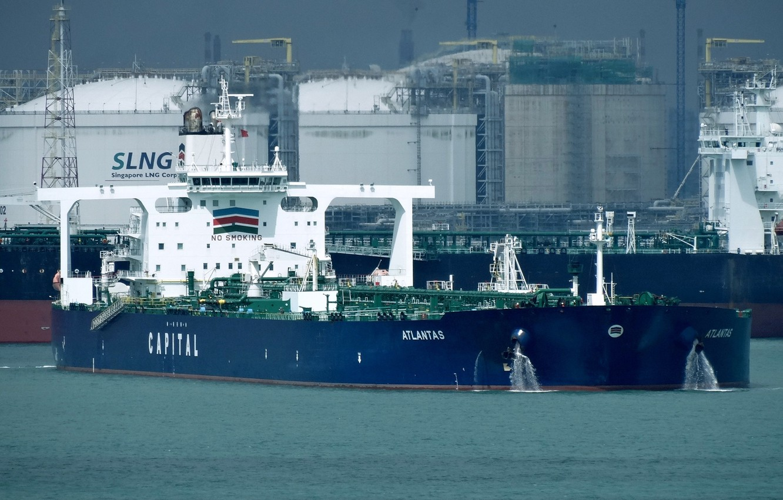 Фото обои корабль, порт, терминал, газовоз