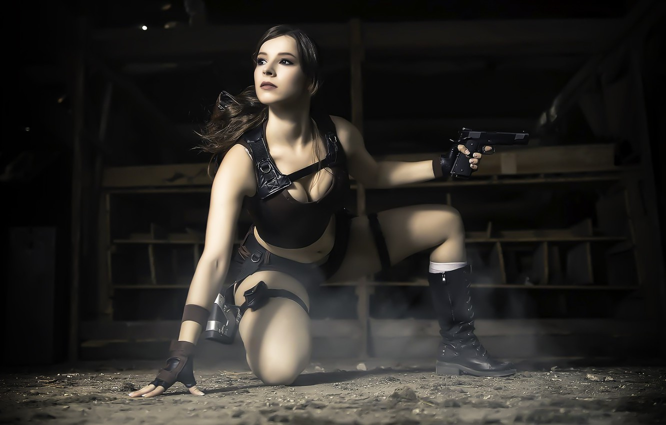 Фото обои Tomb Raider, cosplay, female