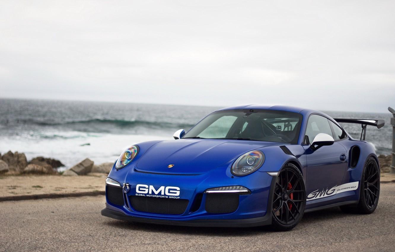 Фото обои 911, Porsche, Blue, GT3RS
