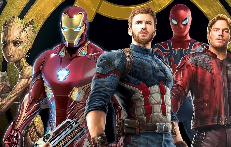 Фото обои Герои, Костюм, Актер, Кино, Маска, Heroes, Superheroes, Броня, Железный человек, Фильм, Актеры, Фантастика, Iron Man, …