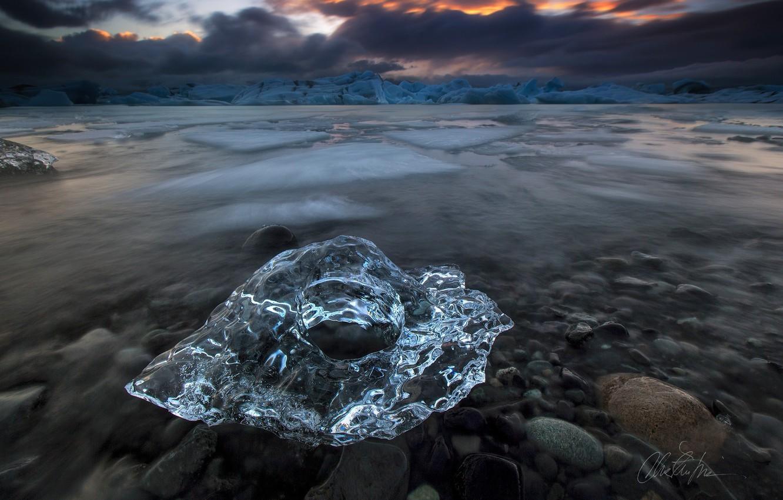 Фото обои природа, лёд, Исландия