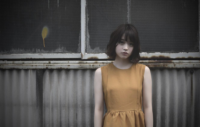 Фото обои грусть, девушка, платье, окно