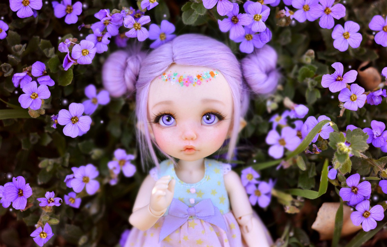 Обои Кукла, цветы. Разное foto 17