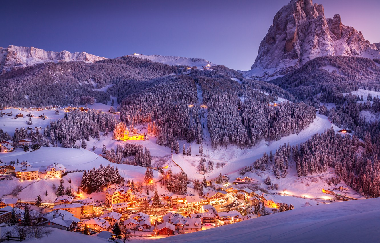 Обои зима, фонарь, Альпы, снег, ноч, Канацеи. Разное foto 7