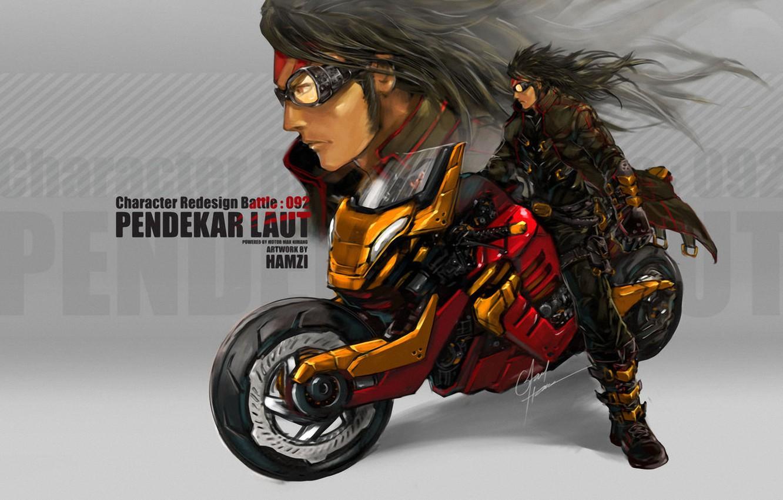 Фото обои мотоцикл, orange, Faid Hamzi, Sea_Tiger_by_bayanghitam