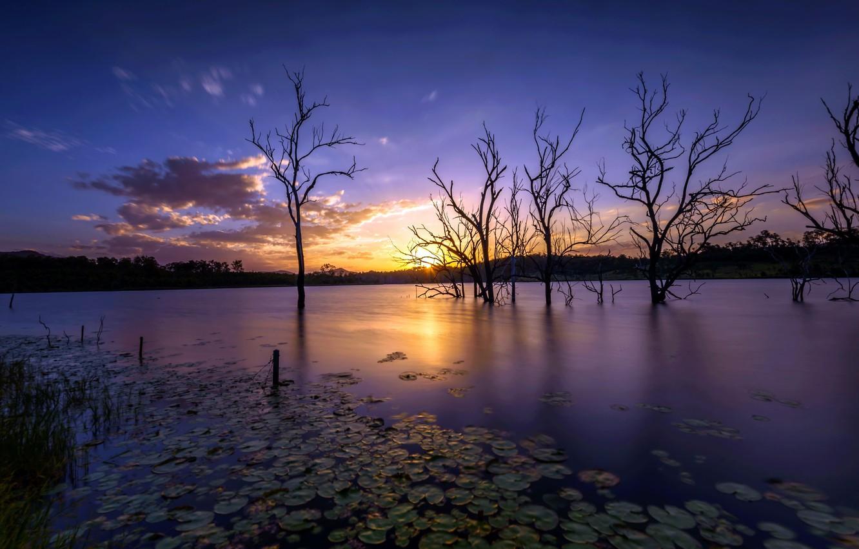 Обои небо, природа, вечер картинки на рабочий стол, раздел пейзажи ...