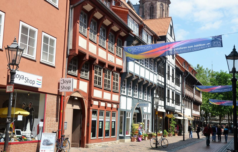 Обои улица, Гёттинген, германия, Germany, здания, Gottingen, street. Города foto 6