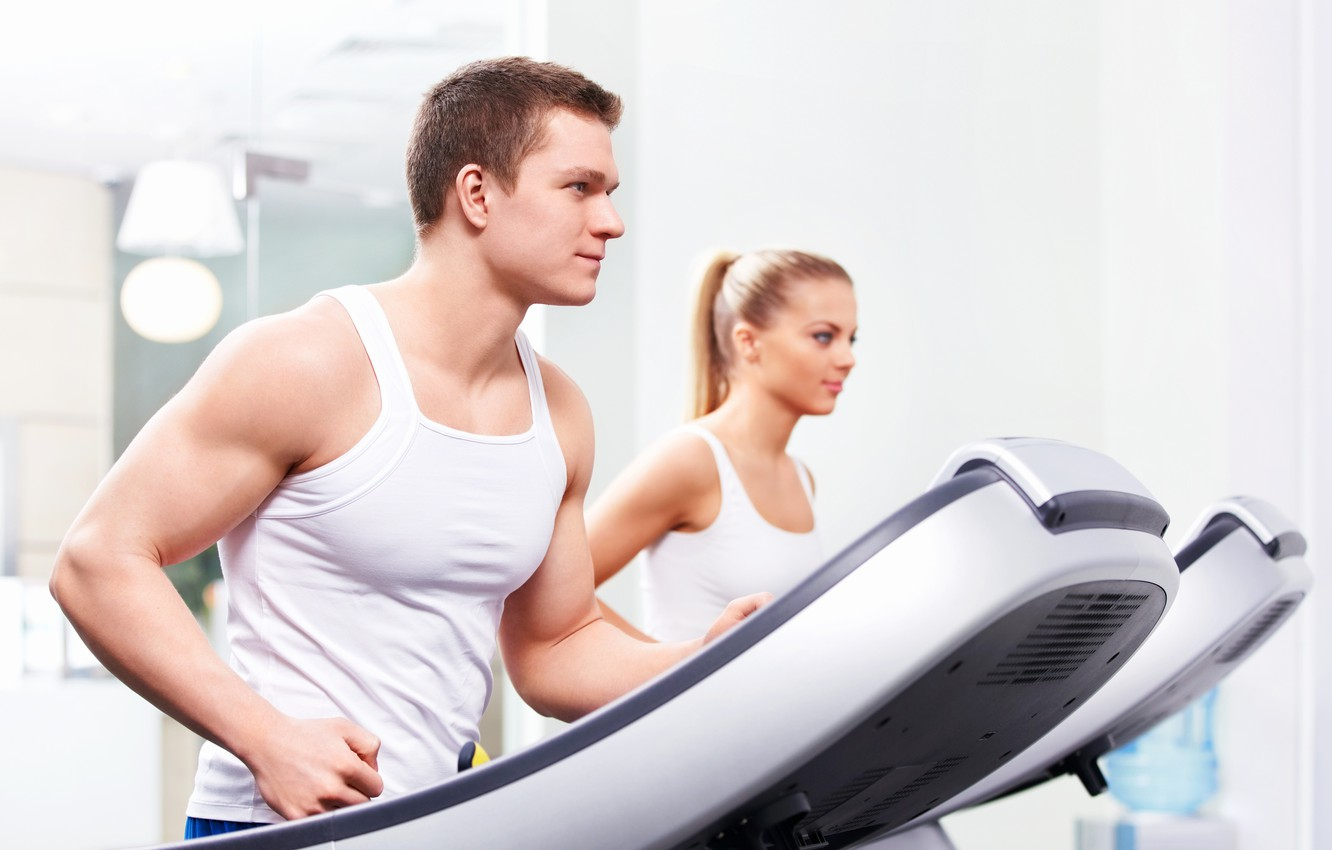 Фото обои focus, exercise, guy, fitness, gym, strong, healthy, weight loss, treadmill, treadmill workout, breathe, fit body