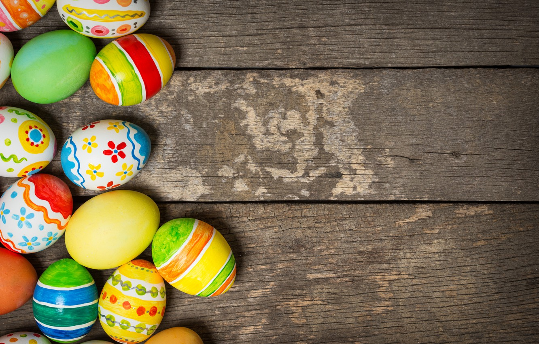 Фото обои colorful, Пасха, happy, wood, spring, Easter, eggs, holiday, яйца крашеные