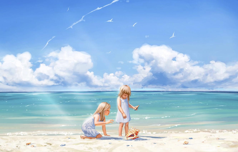 Детские картинки лето море