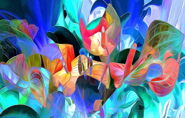 Обои краски, цветы. Абстракции foto 7