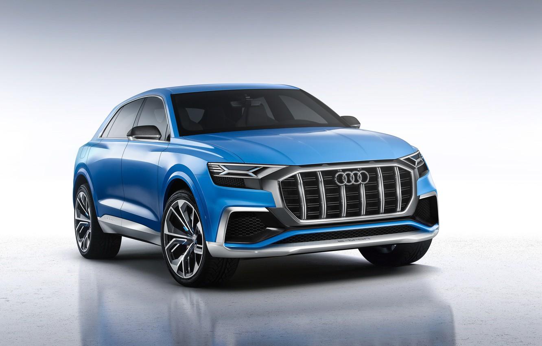 Фото обои Concept, фон, Audi, ауди, концепт, кроссвер