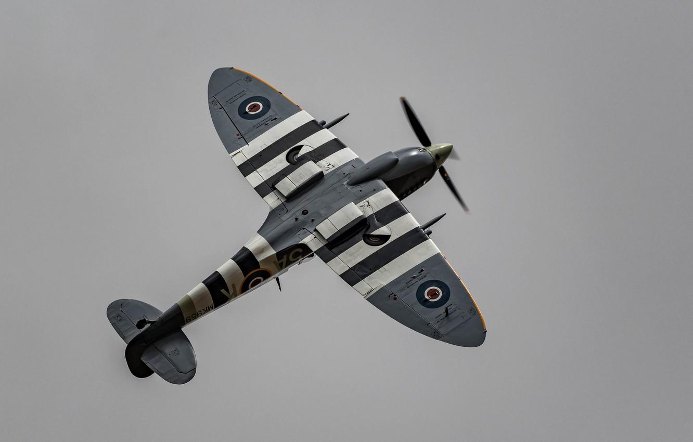 Обои Вторая мировая, истребитель, британский, spitfire, пилоты, рисунок. Авиация foto 7