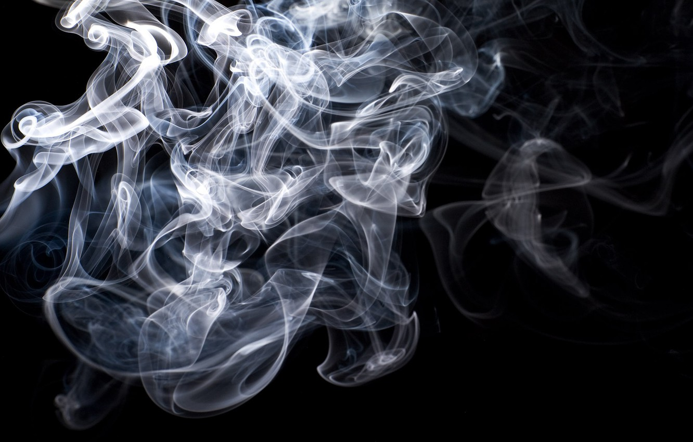 Фото обои Blue, Black, White, Smoke, Gray, Texture, Backgraund