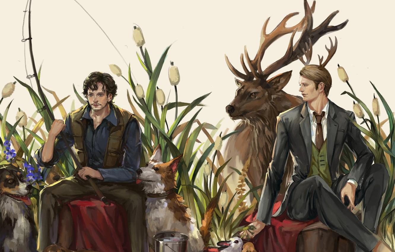 Фото обои животные, сериал, Will Graham, Hannibal, Hannibal Lecter