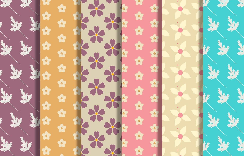 Фото обои цветы, текстура, листочки, flowers, background, pattern, collection