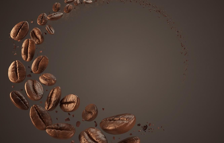Фото обои рендеринг, фон, кофе, зерна
