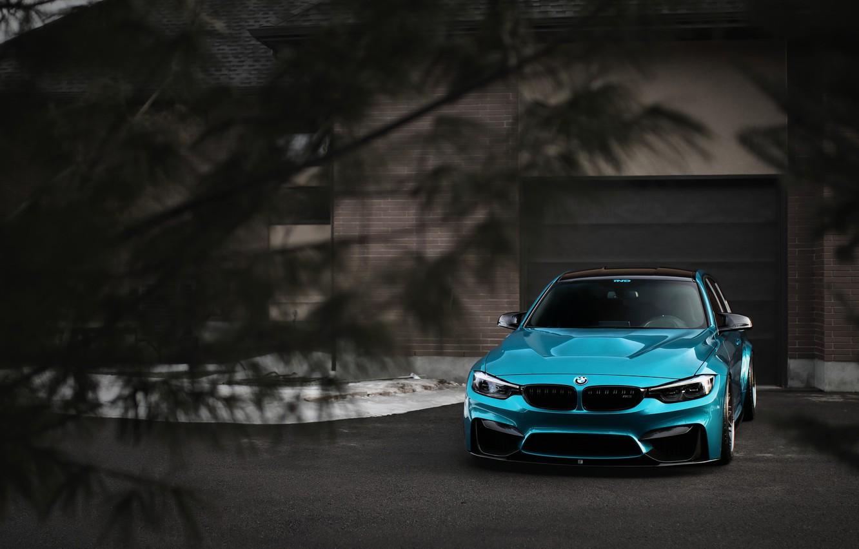 Фото обои BMW, Blue, Predator, F80, Sight