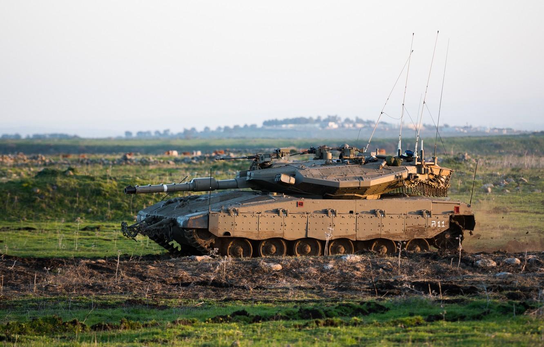 Фото обои танк, боевой, Меркава
