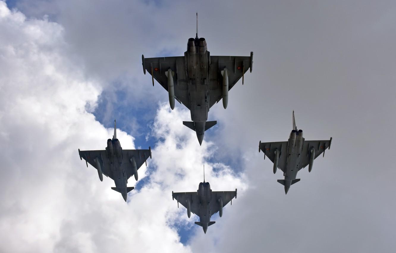 Обои самолеты, Eurofighter typhoon. Авиация foto 6