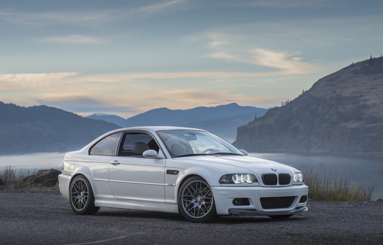 Фото обои BMW, White, E46, Bummer