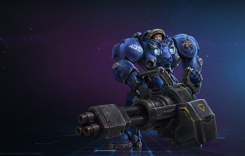 Фото обои космос, оружие, игра, воин, арт, костюм, захватчик