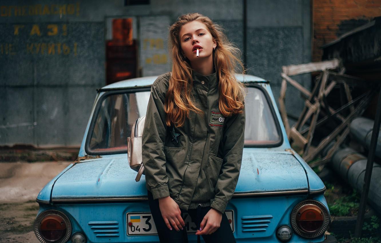 Фото обои девушка, знак, сигарета, Украина, запорожец, Анастасия Лунёва