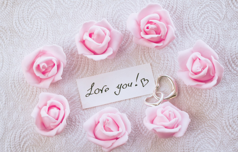 Обои gift, сердечки, roses, розовые розы, I love you. Настроения foto 15
