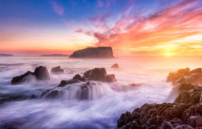 Фото обои Beach, Landscapce, Australia, View, Sea, Minnamurra
