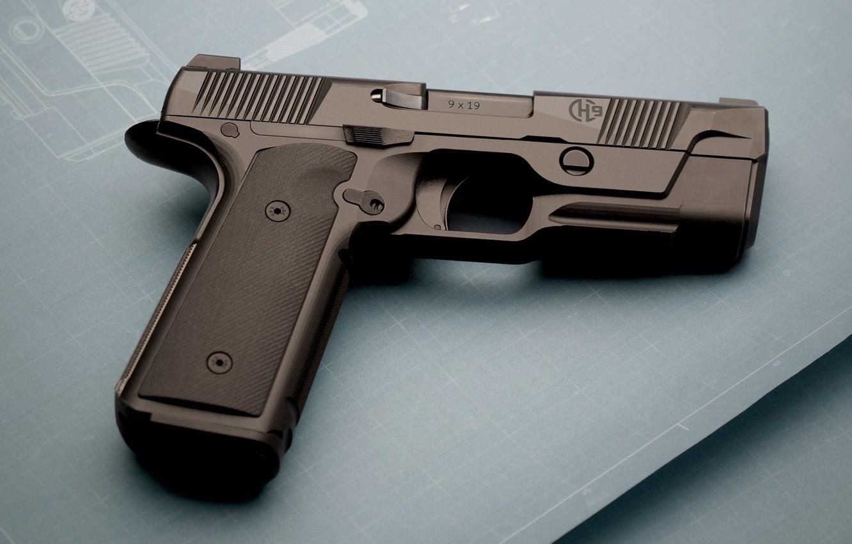 Фото обои пистолет, оружие, gun, pistol, weapon, Hudson, Хадсон, Blueprint