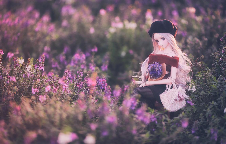 Обои Кукла, цветы. Разное foto 14