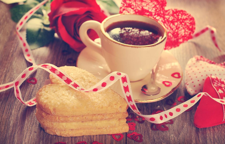 Картинки сердечки кофе цветы