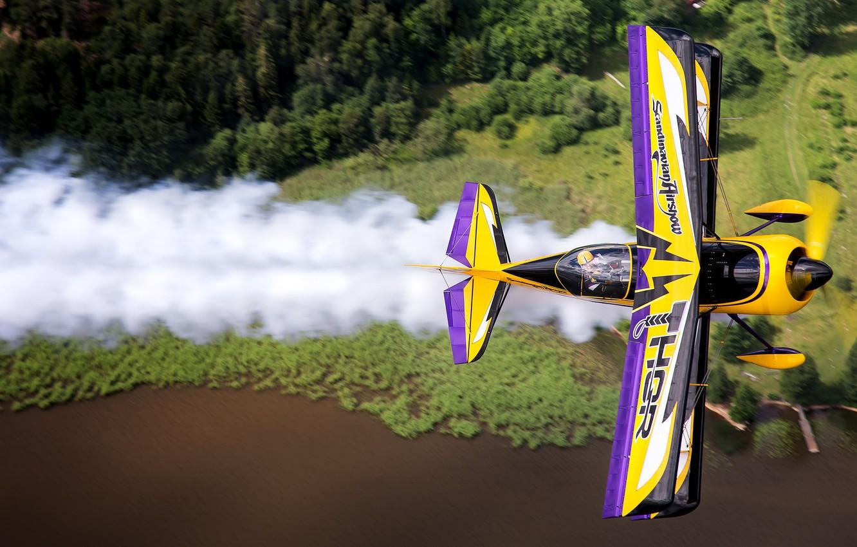 Фото обои самолет, крылья, полёт, авиашоу