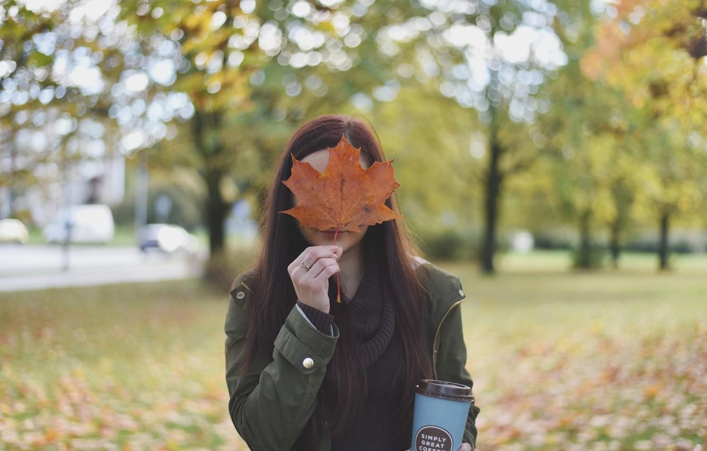 Фото обои girl, autumn, moods