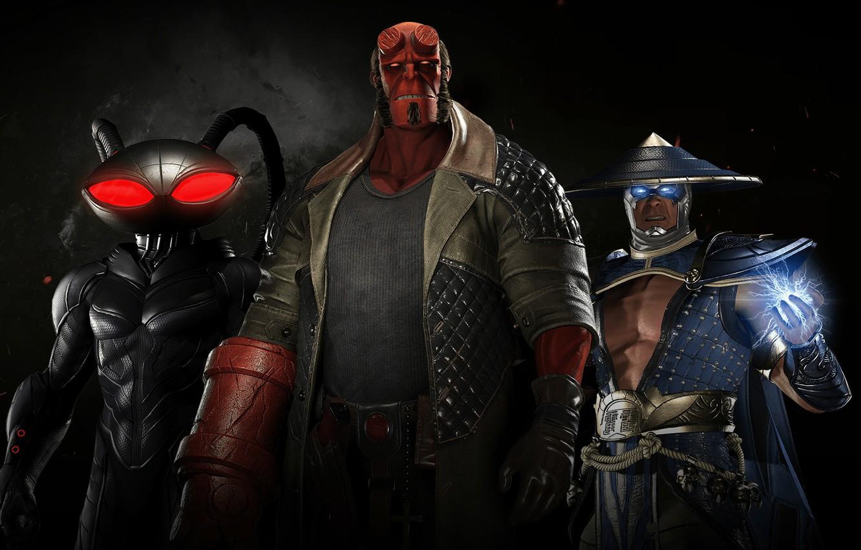 Фото обои game, lightning, hero, Raiden, DC Comics, god, uniform, spark, super hero, Hellboy, thunder god, Injustice …