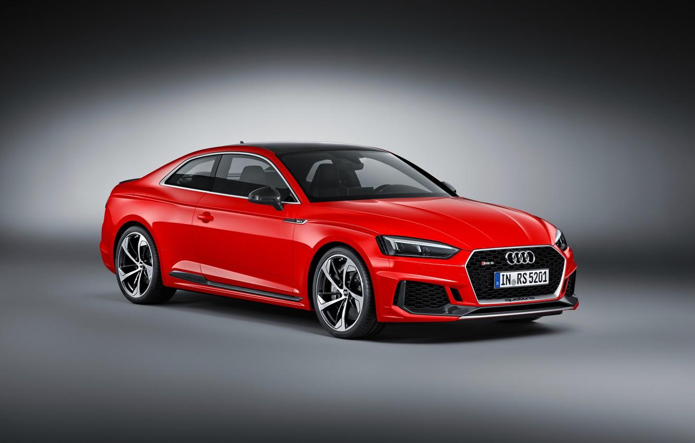 Фото обои фон, Audi, ауди, купе, красная, Coupe, RS 5