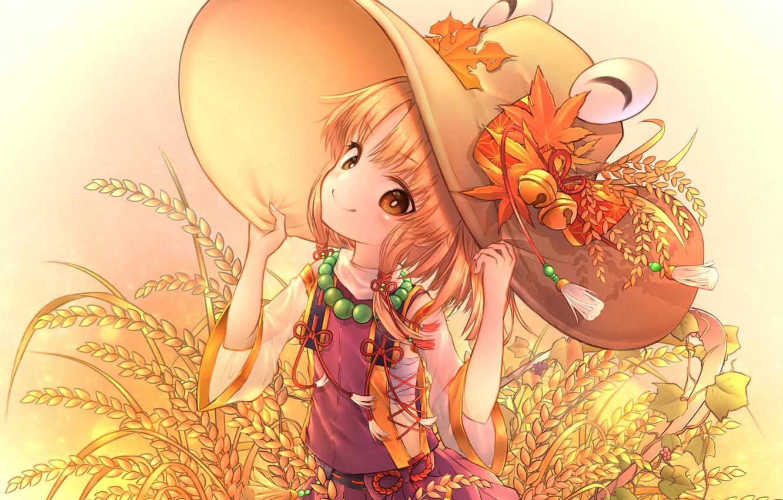Фото обои взгляд, шляпа, арт, девочка, Тохо, Тоухоу