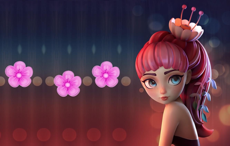 Фото обои весна, арт, цветочек, Alina Makarenko, Flower Girl | Speed Polypaint