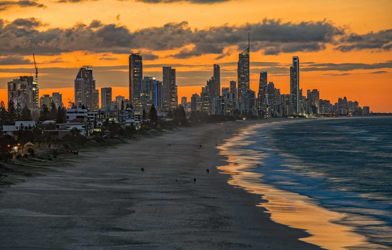 Фото обои пляж, город, Miami Beach