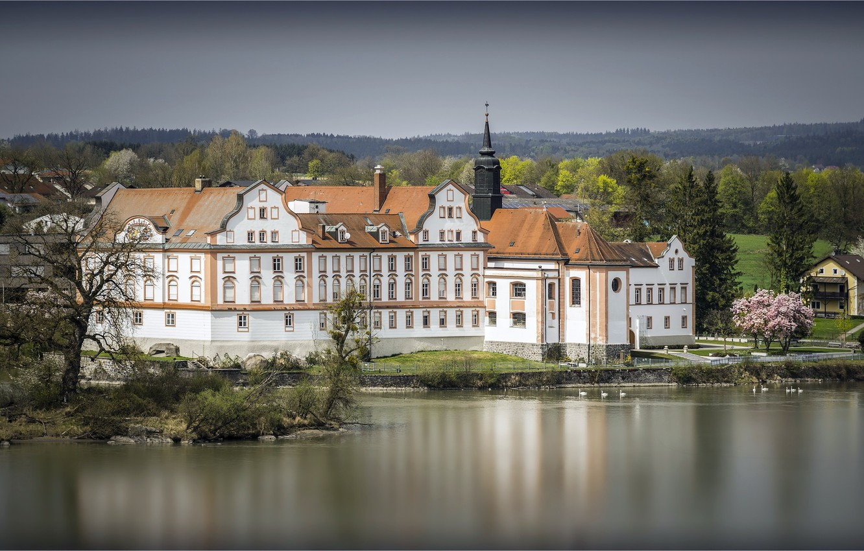 Фото обои Германия, Бавария, Germany, Neuhaus, Maria Ward Secondary school