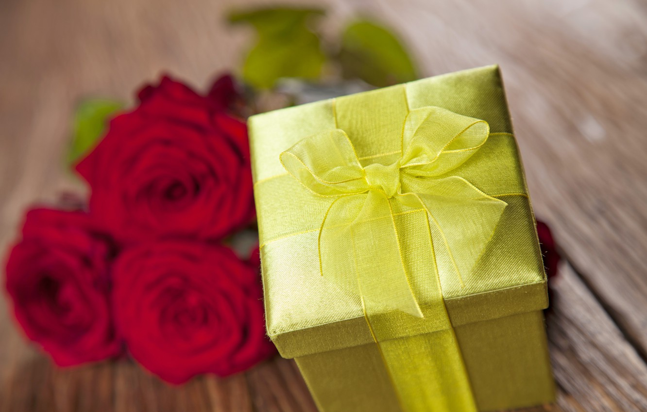 Фото обои red, love, romantic, gift, roses, valentine`s day