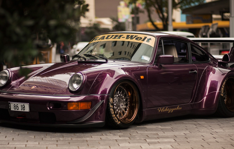 Фото обои 911, wide body, porschce, Porsche 964