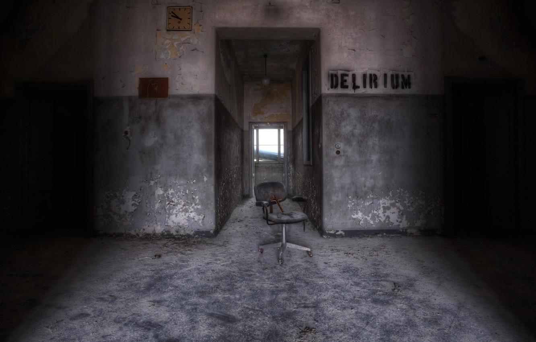 Фото обои комната, крест, стул