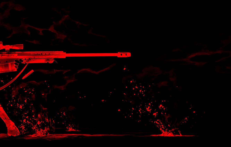 Фото обои red, girl, smile, sniper, Gunslinger Girl