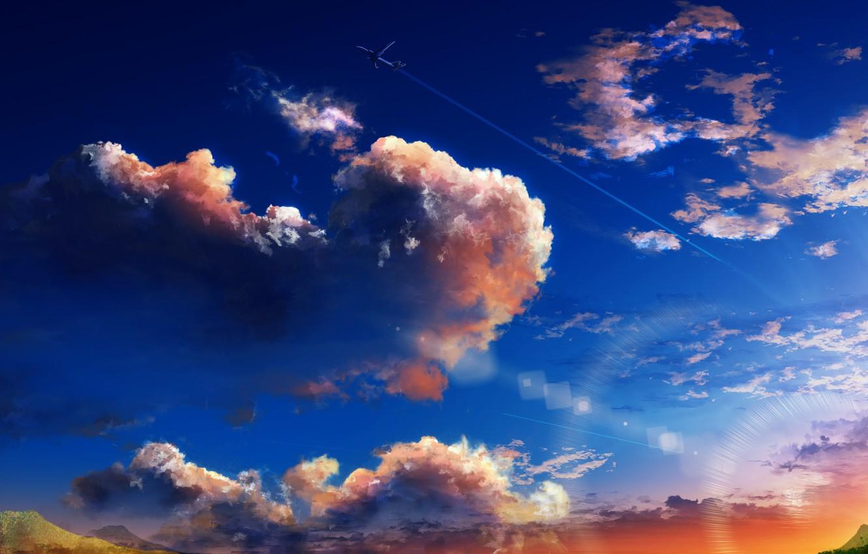 Фото обои небо, самолет, Y_Y