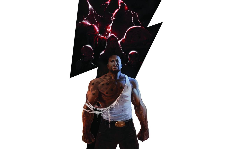 Фото обои Призрак, Marvel Comics, Джаггернаут, Череп и кости, Люк Кейдж, Леший, Thunderbolts, Moonstone