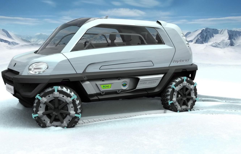 Фото обои Concept, снегоход, MILA, Magna Steyr, Alpin